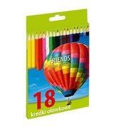 Kredki ołówkowe 18 kolorów INIONL