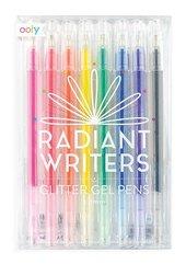 Długopisy żelowe z brokatem Radiant Writers 8szt