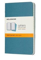 Zestaw 3 zeszytów Cahier Journals 9x14 gładki blue
