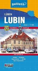 Mapa turystyczna - Lubin, Powiat Lubiński