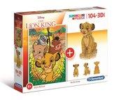 Puzzle 104 3D model Król Lew