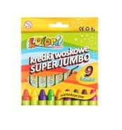 Kredki woskowe Super Jumbo 9 kolorów PENMATE