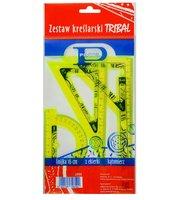 Zestaw kreślarski z nadrukiem i linijką 16cmPRATEL
