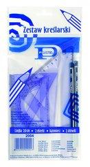 Zestaw kreślarski z linijką 20cm + 2 ołówki PRATEL