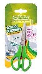Nożyczki szkolne z linijką 13,5cm CRICCO