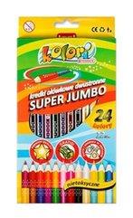 Kredki Premium Kolori Jumbo 24 kolory PENMATE