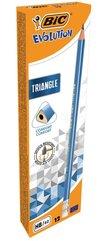 Ołówek Evolution Triangle trójkątny z gumką(12szt)