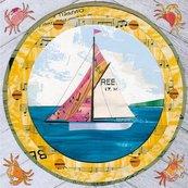 Karnet kwadrat z kopertą Sailing By