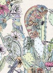 Karnet B6 z kopertą Cactus Chameleons