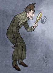 Karnet B6 z kopertą Sherlock Holmes