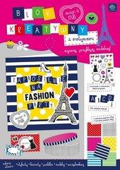 Blok kreatywny A4 z naklejkami Stripes&Dots