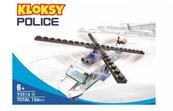 Klocki Kloksy Policja helikopter 156 elementów
