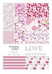 Blok A4/15 z motywami Love 80g HAPPY COLOR