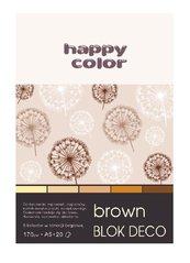 Blok A5/20K Deco Brown 170g HAPPY COLOR