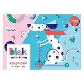 Blok rysunkowy kolor A4/15K HAPPY COLOR
