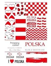 Blok A4/10 z motywami Polska 80g HAPPY COLOR