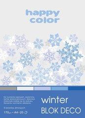 Blok A4/20K Deco Winter 170g HAPPY COLOR