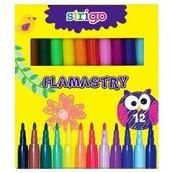 Flamastry 12 kolorów STRIGO
