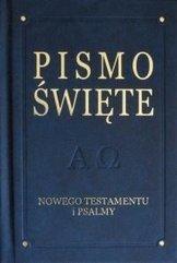 Pismo Święte NT i psalmy - De Luxe, granat