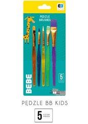 Pędzelki plastikowe 5 sztuk B&B Kids