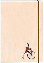 Notatnik ozdobny drewniany A6 Rower retro
