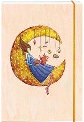Notatnik ozdobny drewniany A6 Księżyc