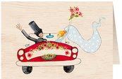 Karnet drewniany C6 + koperta Ślub samochód