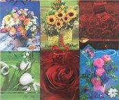Torebka ozdobna laminowana PL-6 zestaw 44 kwiaty