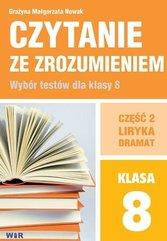Czytanie ze zrozumieniem dla kl. 8 SP cz.2 Liryka