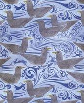 Karnet 17x14cm z kopertą Seagulls