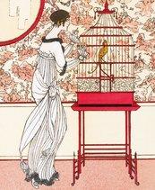 Karnet 17x14cm z kopertą Ah! Le Bel Oiseau