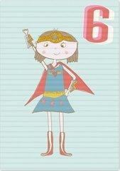 Karnet B6 z kopertą Urodziny 6 dziewczynka