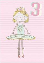 Karnet B6 z kopertą Urodziny 3 dziewczynka