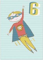 Karnet B6 z kopertą Urodziny 6 chłopiec