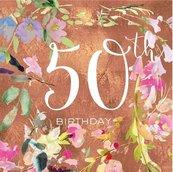 Karnet kwadrat z kopertą Urodziny 50