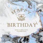 Karnet kwadrat z kopertą Urodziny Blue Marble Birt