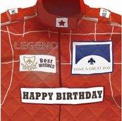 Karnet kwadrat z kopertą Urodziny Racing Birthday