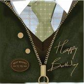 Karnet kwadrat z kopertą Urodziny Birthday Wax Jac