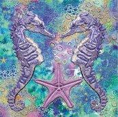 Karnet kwadrat z kopertą DNA Seahorses
