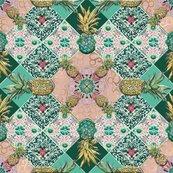 Karnet kwadrat z kopertą Pineapple Tile