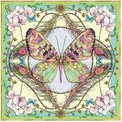 Karnet kwadrat z kopertą Butterfly & Orchids