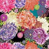 Karnet kwadrat z kopertą Asian Floral