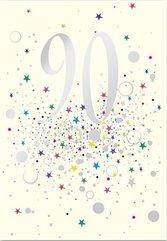 Karnet B6 z kopertą Urodziny 90