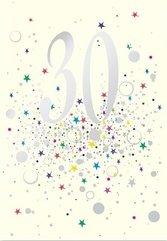 Karnet B6 z kopertą Urodziny 30
