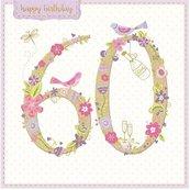 Karnet kwadrat z kopertą Urodziny 60