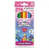 Kredki ołówkowe 12 kolorów Hatchimals