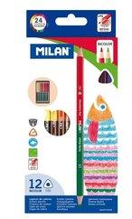 Kredki trókątne Bicolor 24 kolory MILAN