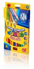 Kredki ołówkowe tęczowe Jumbo 12 kolorów ASTRA
