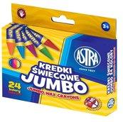 Kredki świecowe Jumbo 24 kolory ASTRA