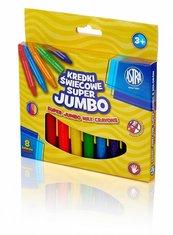 Kredki świecowe Jumbo 8 kolorów ASTRA